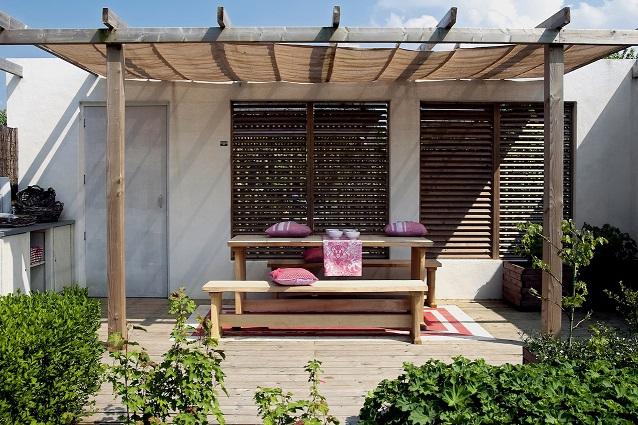 Overkapping Tuin Doek : Overkapping bouwen? met een schaduwdoek vaak niet nodig! huislijn blog