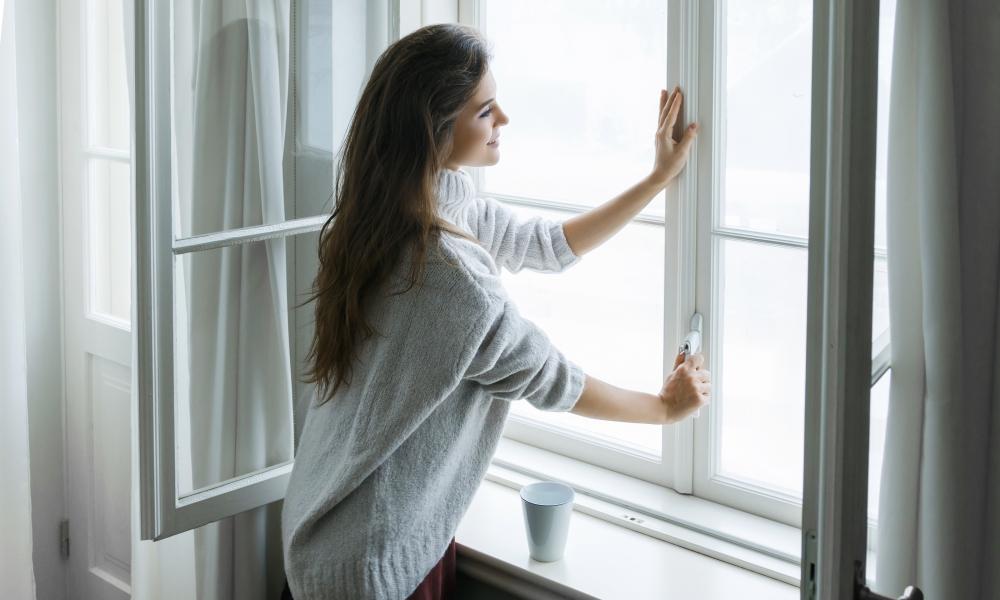 open raam ventileren