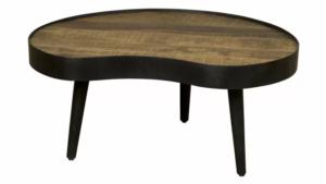 houten salontafel met een organische vorm