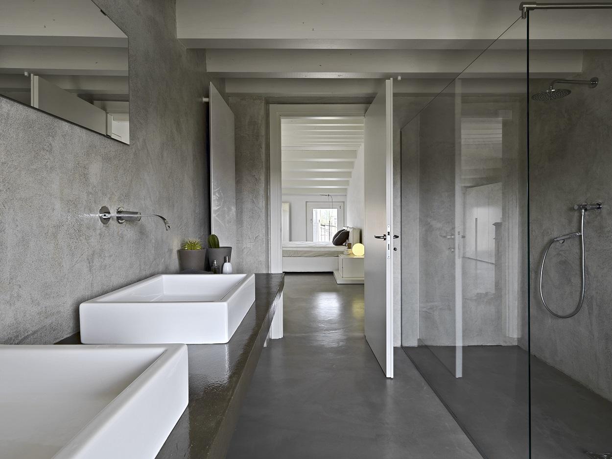 vloer badkamer beton