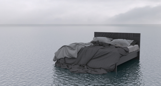 slaapkamer - waterbed
