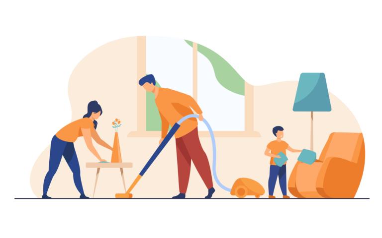 huishouden opruimen wonen