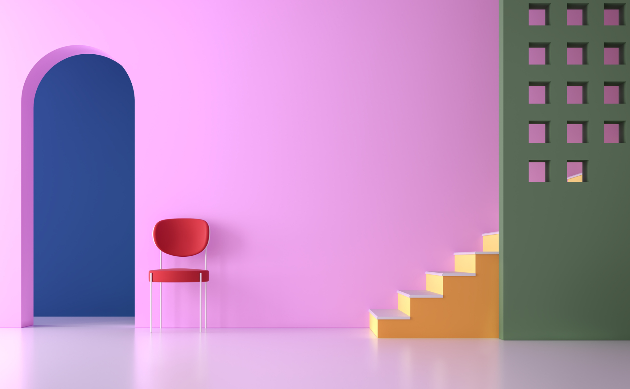 ruimte door kleur in je huis en inrichting