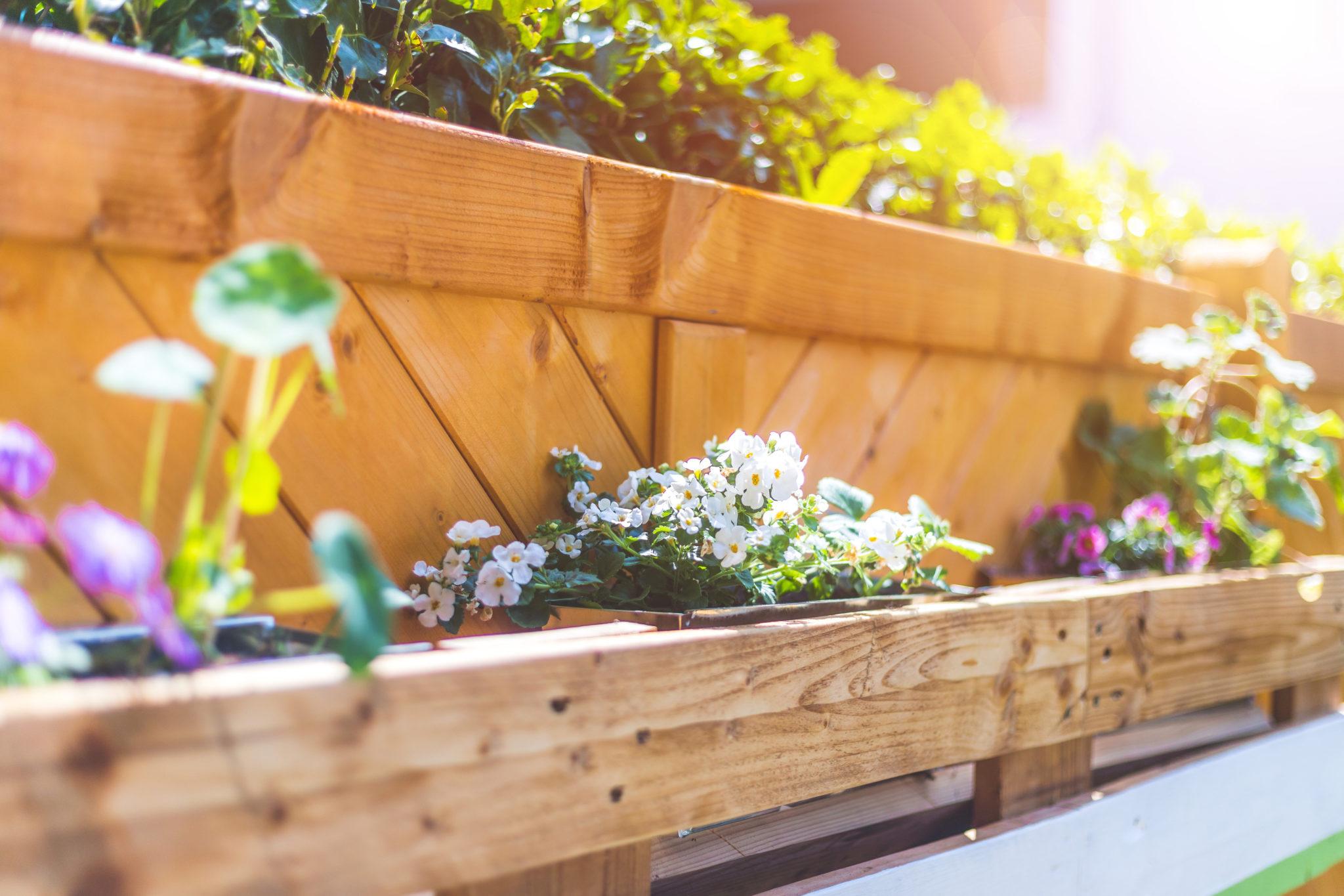 bloembakken in je tuin
